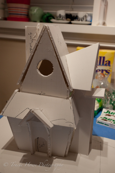 Photo of prototype for gingerbread house I designed