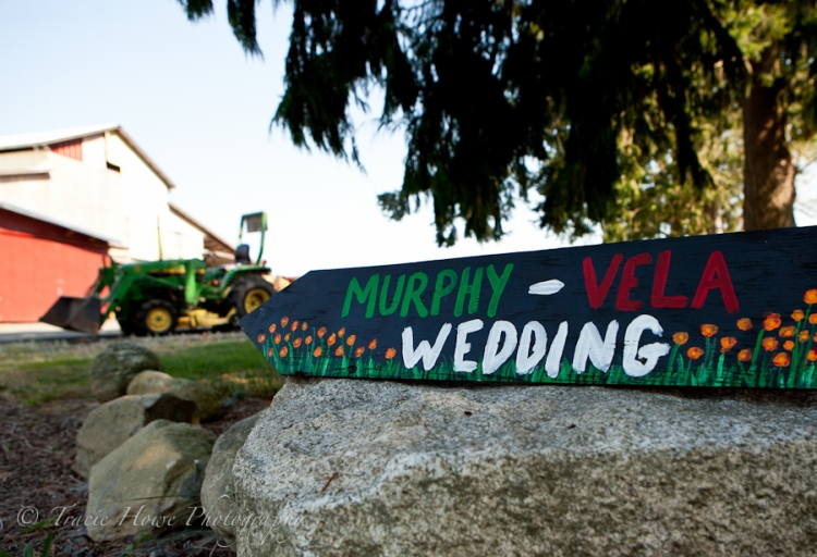Photo of a painted sign for a Mexican wedding