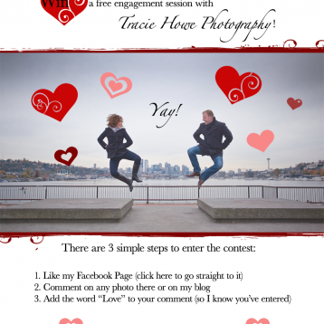 win free engagement photo session, enter by Valentine's day