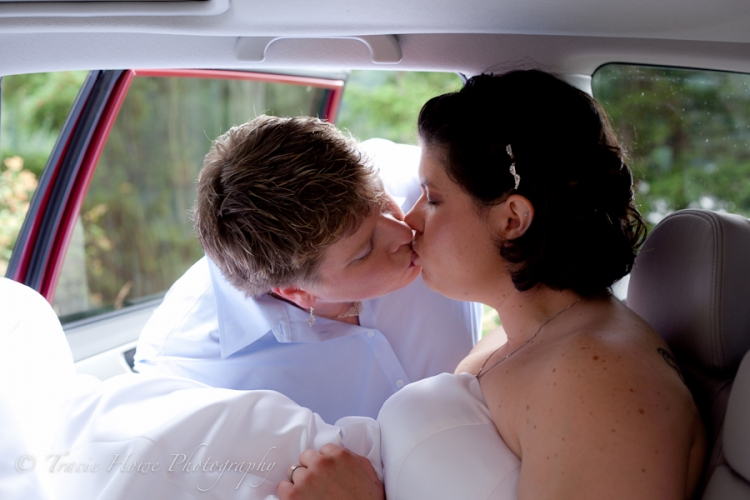 Sweet kiss post wedding