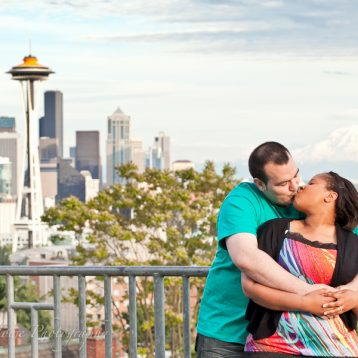 Engagement photos at Seattle's Kerry Park