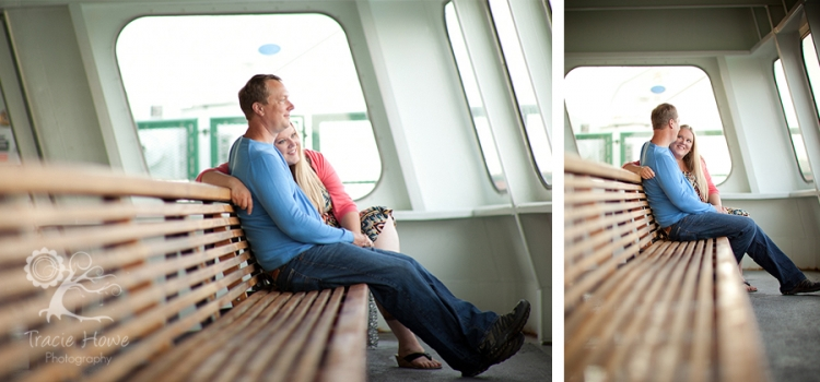 Fauntleroy ferry to Vashon engagement photography in Seattle