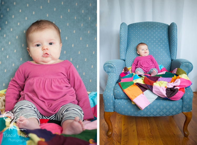 photo of baby on chair