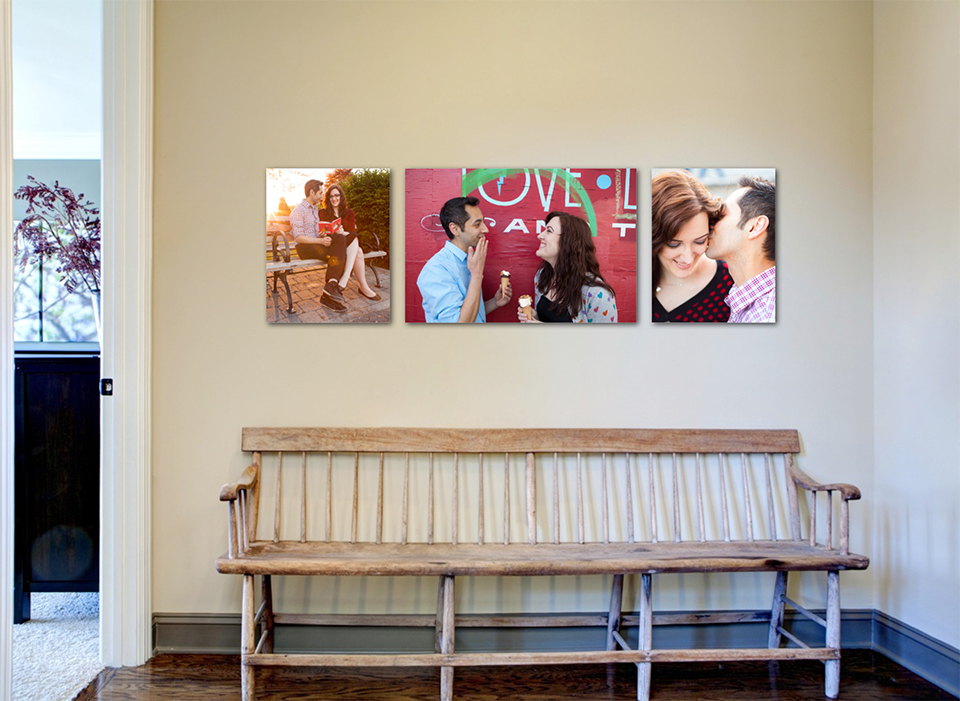 Seattle family photography package wall art example