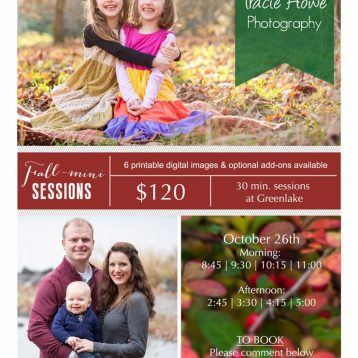 Seattle Fall mini sessions