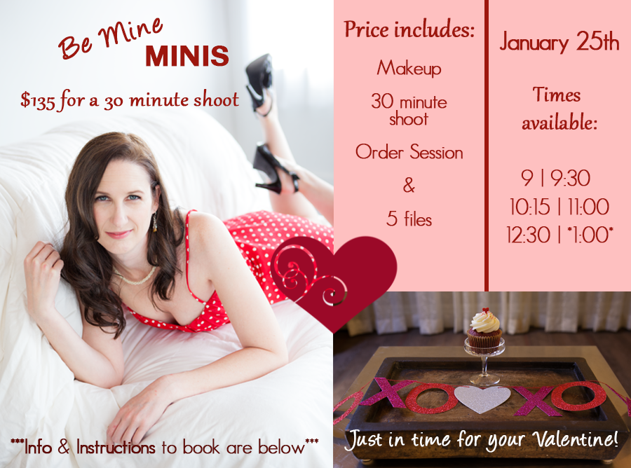 Be mine annual valentine boudoir mini sessions are back for Valentines day ideas seattle