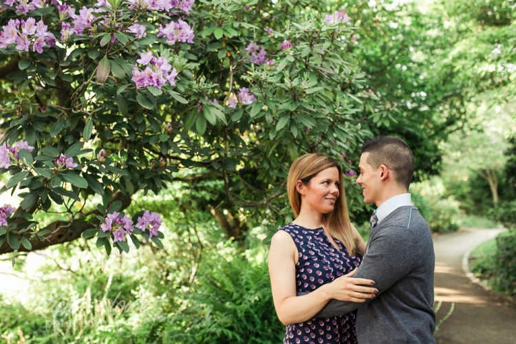 Seattle engagement photography Parsons Gardens