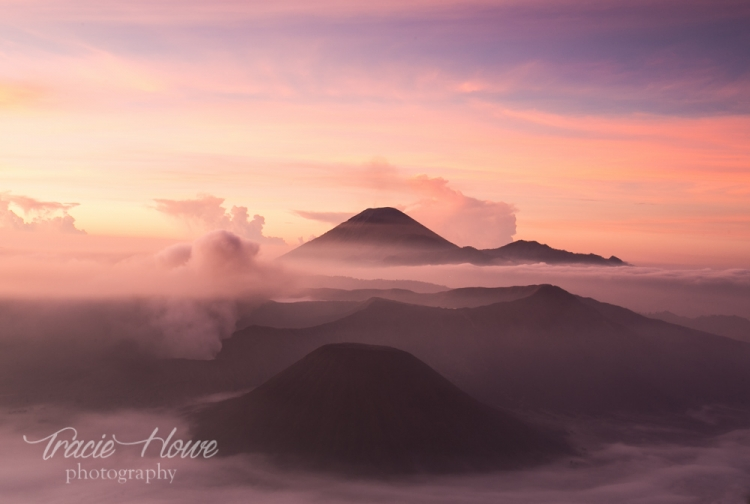 This view of Mount Bromo and surrounding volcanoes was one I had been dreaming of for a long time.