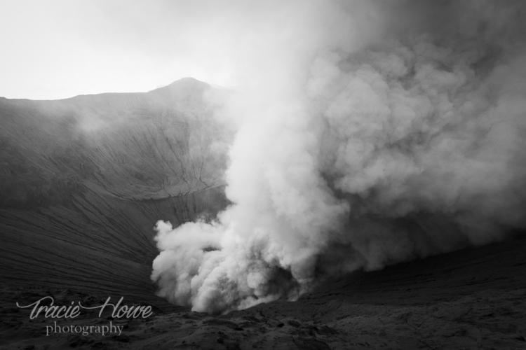 One of the most surreal experiences of my life was when ash was falling on my like snow from the crater of Mount Bromo