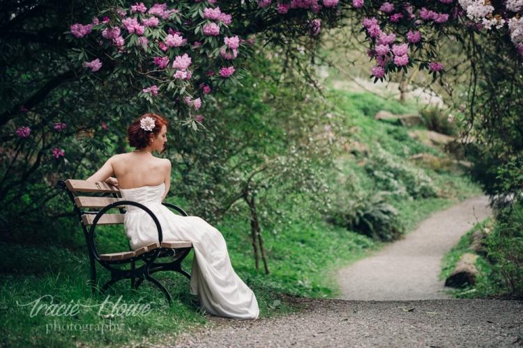 garden elopement inspiration bridal shoot
