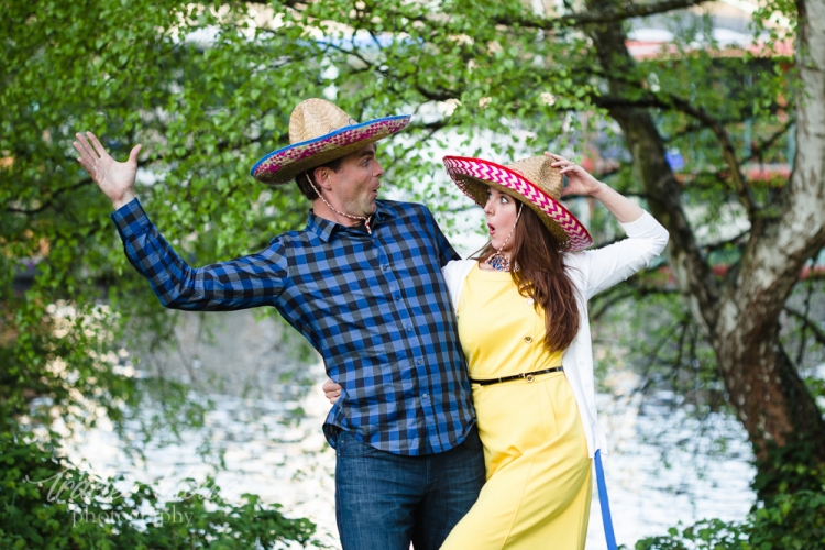 My silliest couple this year, doing what they do best during their Gasworks Park engagement shoot.