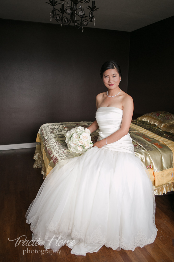 A lovely bride with lovely light.