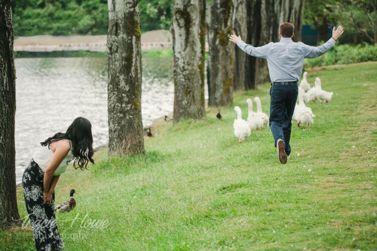 Michael was not going to let these aggressive geese ruin his engagement shoot.