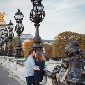 Pont Alexandre III engagement shoot